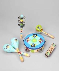 Take a look at this Blue Owl Musical Instruments - Set of Six  by Sassafras on #zulily today!
