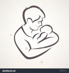 father and baby vector - Hledat Googlem