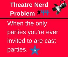 Ain't no party like a Crucible Cast Party - am I right?!