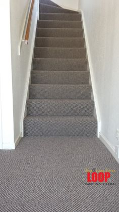 Heavy domestic carpet in country grey - ideal for stairs and landings.