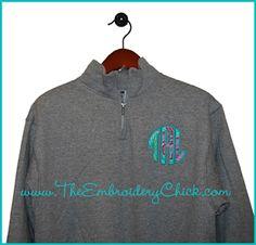Monogram Applique Pullover-monogram, applique, fleece, pullover