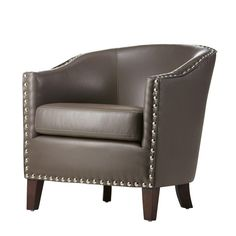 Home Decorators Collection Moore 30 in. W Pebble Grey Club Chair-1338900820 at The Home Depot