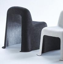 Children chairs from thermoformed recycled PET fiber felt