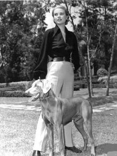 Grace Kelly and her Weimaraner