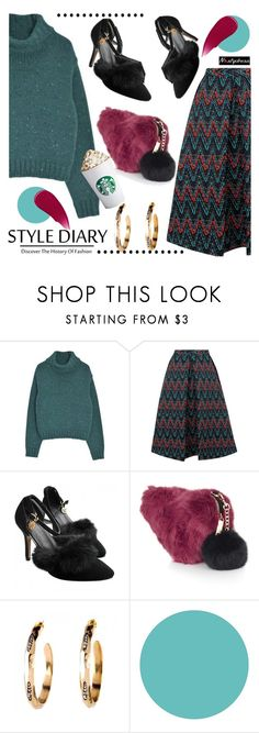 """faux fur details"" by paculi ❤ liked on Polyvore featuring Topshop, WallPops, Burberry and nastydress"