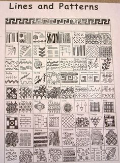 lines and patterns handout - Google Search