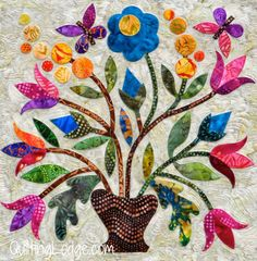 Spring Bouquet Quilt Finished - Orchid Owl Quilts xxx