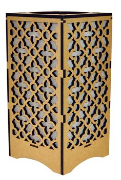 Moroccan Brown, Black and White Lamp Moroccan, Lamps, Divider, Arts And Crafts, Black And White, Brown, Furniture, Home Decor, Lightbulbs