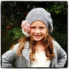 Ravelry: Samantha/Sam Slouch pattern by Crochet by Jennifer Crochet Girls, Crochet Baby Hats, Easy Crochet, Knit Crochet, Knitting Designs, Knitting Projects, Crochet Projects, Knitted Hats Kids, Knitting For Kids
