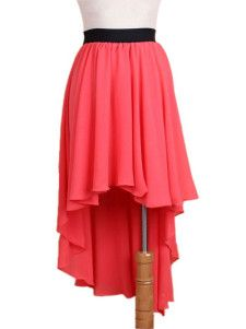d8b4229a02 Chiffon Long in Back Short in Front Women's Long Skirt Love this and I want  one so bad | c l o t h e s | Fashion, Skirts, Skirt fashion