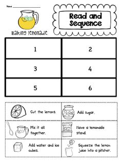5 Sequencing Worksheets 2 Read and Sequence unit makeover and a lemonade freebie √ Sequencing Worksheets 2 . 5 Sequencing Worksheets Sequence Writing Pack First Next then Last Kindergarten Writing, Teaching Writing, Student Teaching, Kindergarten Worksheets, Writing Activities, Preschool Learning, Fall Preschool, Speech Activities, Montessori Activities