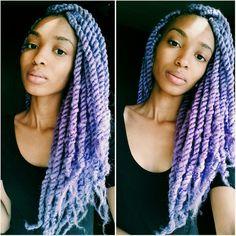 "elaineafrika: "" New Hairstyle (lavender marley twist) ☺ """