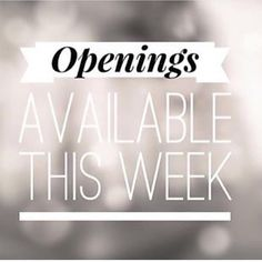 , We have appointments available this week our new senior stylist Louise Knox will. , We have appointments available this week our new senior stylist Louise Knox will be in salon this Thursday-Friday-Saturday. With off all colours. Hair Salon Quotes, Hair Quotes, Massage Marketing, Engagement Hairstyles, Hairstylist Quotes, Hairdresser Quotes, Salon Business, Massage Business, Appointments Available