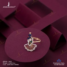Gemstone Ring jewellery for Women by jewelegance. ✔ Certified Hallmark Premium Gold Jewellery At Best Price Gold Rings Jewelry, Hand Jewelry, Simple Jewelry, Cute Jewelry, Pendant Jewelry, Gemstone Jewelry, Women Jewelry, Gold Jewellery, Jewelery