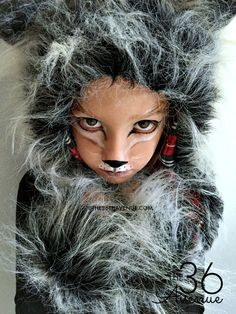 Halloween Costumes - This Wolf Costume is supers cute, comfortable and perfect for kids and adults. You can do this DIY Wolf Makeup with items that you may already have at home! Girls Wolf Costume, Wolf Halloween Costume, Halloween Makeup Looks, Easy Halloween, Halloween 2018, Halloween Party, Werewolf Makeup, Werewolf Girl, Costumes