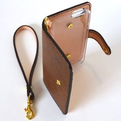 63e7fd6ce865 Brown Leather Phone Wallet iPhone Wallet Samsung Wallet 革携帯電話ケース, ポケット, サムソン