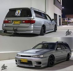 Nissan Stagea with s14 front
