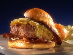 The Alabama Smokehouse Pig Burger with White Barbecue Sauce