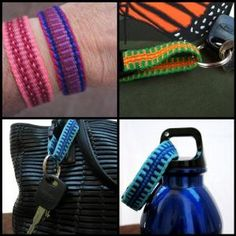 ASpinnerWeaver specializes in handwoven straps.  Many re-enactment groups like her work for their costumes.  Decorate your camera or guitar with a woven strap!