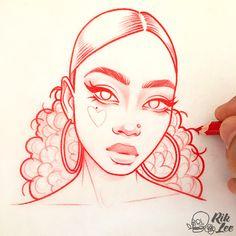 Drawings, cute drawings, girl drawing sketches, girl face drawing, am Girl Drawing Sketches, Cool Art Drawings, Pencil Art Drawings, Beautiful Drawings, Face Sketch, Drawing Faces, Drawing Hair, Portrait Sketches, Girl Sketch