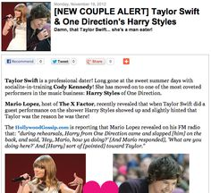 [NEW COUPLE ALERT] Taylor Swift & One Direction's Harry Styles