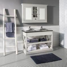Badezimmer James in Hellgrau - Badezimmer - Bad - Produkte Bathroom Toilets, Bathrooms, Double Vanity, Light Gray Bathrooms, Bathing, Design Interiors, Products, House, Bathroom