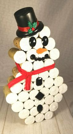 Items similar to Rustic Snowman/ Cork Snowman/ Snowman Decor/ Country Snowman/ Snowman Wine Cork/ Christmas TieredTray Decor/ Snowman Cork/ Farmhouse Snowman on Etsy Indoor Christmas Decorations, Snowman Decorations, Snowman Crafts, Christmas Crafts, Christmas Ideas, Holiday Decor, Wine Craft, Wine Cork Crafts, Bottle Crafts