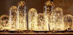 Starry String Lights | Restoration Hardware. They come in various lengths. Battery powered or plug in. Just beautiful.