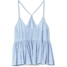 Gap Women Dreamwell Swing Sleep Cami (1,325 DOP) ❤ liked on Polyvore featuring intimates, camis, tops, spaghetti strap cami, ruffle cami, v neck cami and v-neck camisoles