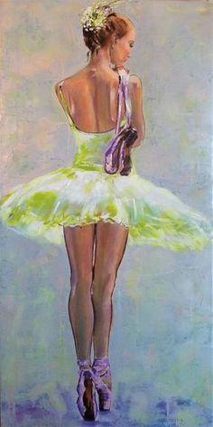 On Pointe II  - Original  ballerina painting
