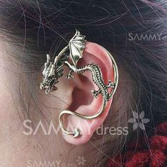 $2.12 Retro Gothic Style Dragon Shape Earring--- I would love to wear one of these!!