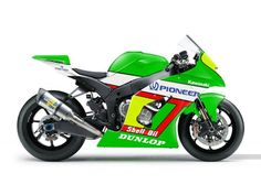2012 Kawasaki ZX-10R painted with KR500 inspired paint (see KR pin)