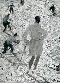 Alfons Walde - Wintersonne (1919) Tempera, S Ki Photo, Ski Card, Ski Wedding, Ski Accessories, Vintage Ski Posters, Kunst Online, Snow Art, Ski Holidays