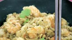Wok de chou rave aux crevettes sauce aigre-douce