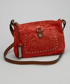 Take a look at this Red Studded Crossbody Bag by Kenneth Cole Reaction on #zulily today!