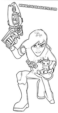 Halloween coloring page featuring cryptogrif skgaleana - Coloriage slugterra a imprimer ...