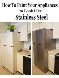 How to paint appliances - it really works and it looks amazing! Liquid Stainless Steel Appliance Paint by Giani.