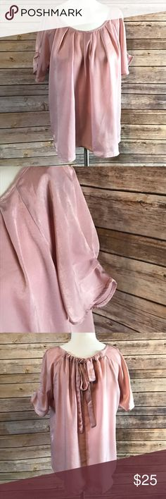 Papermoon Kera Bow Back Blouse. Stitch fix Silky blouse with bow on the back 100% polyester.  ::c24 Papermoon Tops Blouses