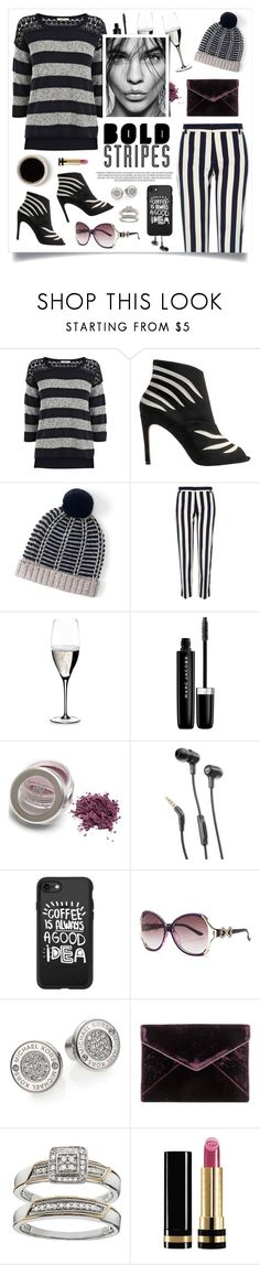 """Bold Stripes"" by linmari ❤ liked on Polyvore featuring Oasis, Karen Millen, Lands' End, River Island, Riedel, Marc Jacobs, JBL, Casetify, Michael Kors and Rebecca Minkoff"