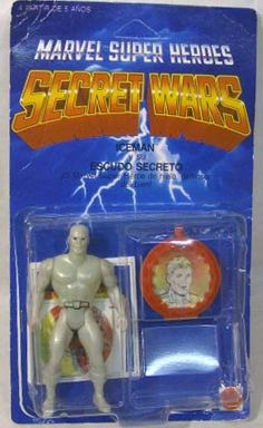 """""""OUT OF STOCK""""Marvel Secret Wars  - Iceman (Mint On Resealed Card) Iceman Marvel, Marvel Secret Wars, Weird Toys, Amazing Toys, Modern Toys, Horde, Sideshow Collectibles, Classic Toys, Old Toys"""