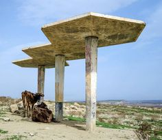 Bus Stop no.37, Network of bus stations, Tajikistan, built in the late 70-s. (c) BACU