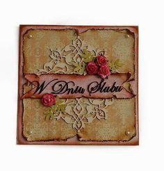 ..:::Artana.85:::..: Kartka ślubna w stylu vintage wykonana w ostatnio ...