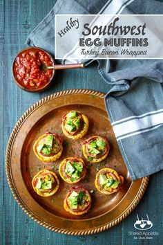 Perfect for a quick breakfast on-the-go, these Healthy Turkey Bacon Wrapped Southwest Egg Muffins are made with Butterball Turkey Bacon, so you can feel totally good about your morning. Make a batch ahead of time and reheat when you need! #breakfast #easy