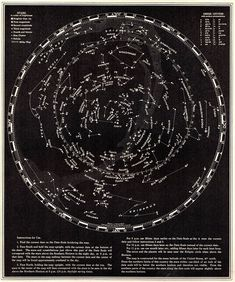 1935 Vintage Astronomy Print STARS and CONSTELLATIONS Chart