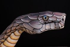 Snake hand art by Guido Daniele Snake Painting, Hand Painting Art, Art Paintings, Hand Pictures, Creative Pictures, African Big Cats, Hand Makeup, Art Tumblr, Art Tribal