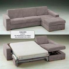 Θέτις Γωνιακός Καναπές Κρεβάτι 275x185cm Couch, Furniture, Home Decor, Settee, Decoration Home, Sofa, Room Decor, Home Furnishings, Sofas