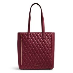 For work or fun, the Quilted Leah Tote has the functionality and style you want. The main compartment is large enough for a laptop, while the front vertical zip pocket is large enough for a tablet. Numerous pockets both inside and out keep everything tidy while the zip-top closure keeps everything secure.