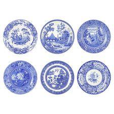 "Blue Room 11.5"" Georgian Plate Set (Set of 6)"