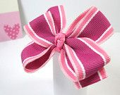 Pink bows for favors