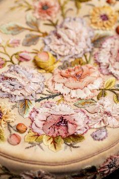 Detail of an exquisite vintage ribbonwork purse...divine!